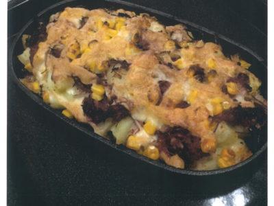 コンビーフとポテトのオーブン焼き